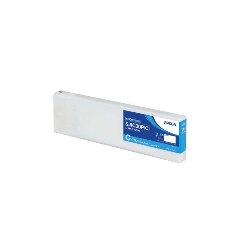 Cartucho de tinta color CYAN Pigment Epson ColorWorks C7500G (SJIC30P(C))