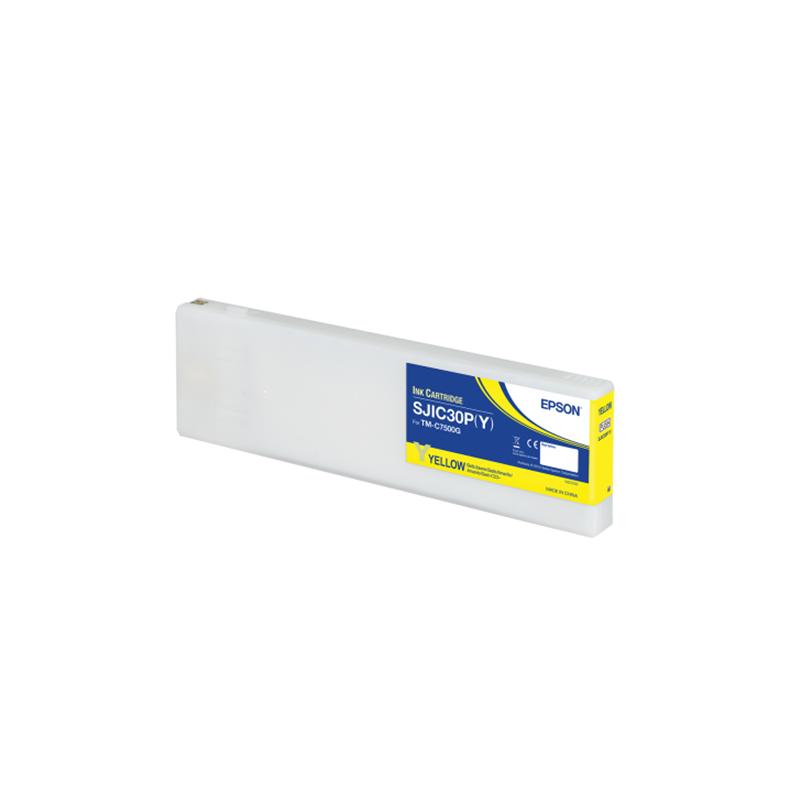 Cartucho de tinta color AMARILLO Pigment Epson ColorWorks C7500G (SJIC30P(Y))