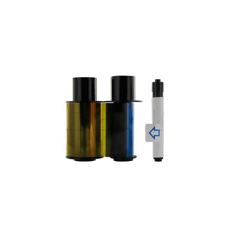 EZ - YMCKO Cartridge w/Cleaning Roller: Full-color ribbon with resin black and clear overlay panel (WE) – 100 images
