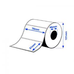 76 x 51 mm Premium MATTE Epson Label - 650 etiq - (C3400/C3500 series)