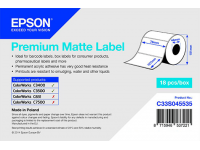 76 x 127 mm Premium MATTE Epson Label - 265 etiq - (C3400/C3500 series)
