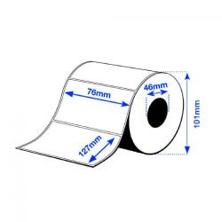 76 x 127 mm HIGH GLOSS Epson Label - 250 etiq - (C3500 series)