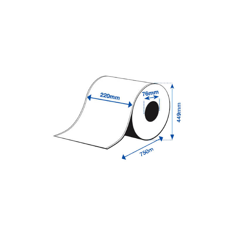 220 x 750 m HIGH GLOSS Epson Label - Continuo - (C7500G)