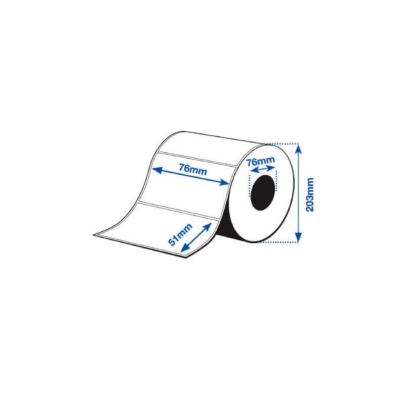 76 x 51 mm PE MATTE Epson Label - 2310 etiq - (C7500/C7500G)