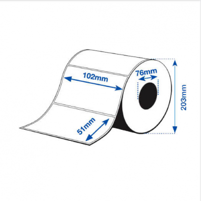 102 x 51 mm GLOSS Bopp Epson Label - 2770 etiq - (C7500G)