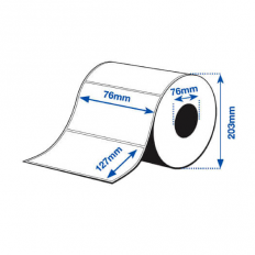 76 x 127 mm GLOSS Bopp Epson Label - 1150 etiq - (C7500G)