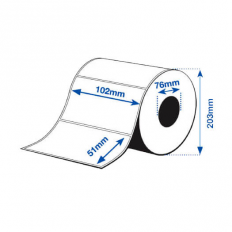 102 x 51 mm HIGH GLOSS Bopp Epson Label - 2770 etiq - (C7500G)