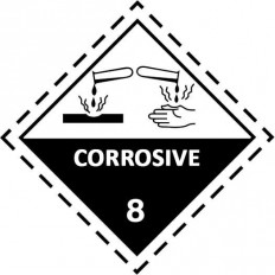 Etiquetas ADR Clase 8 - Mercancía Corrosiva