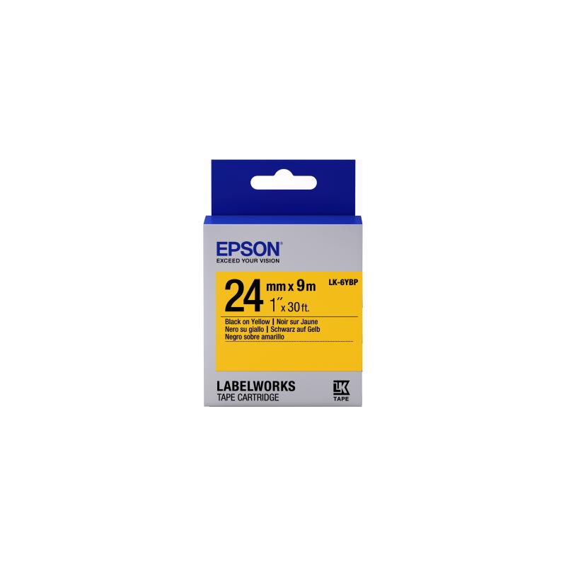 Cinta Epson color pastel - LK-6YBP negro/amarillo pastel 24/9