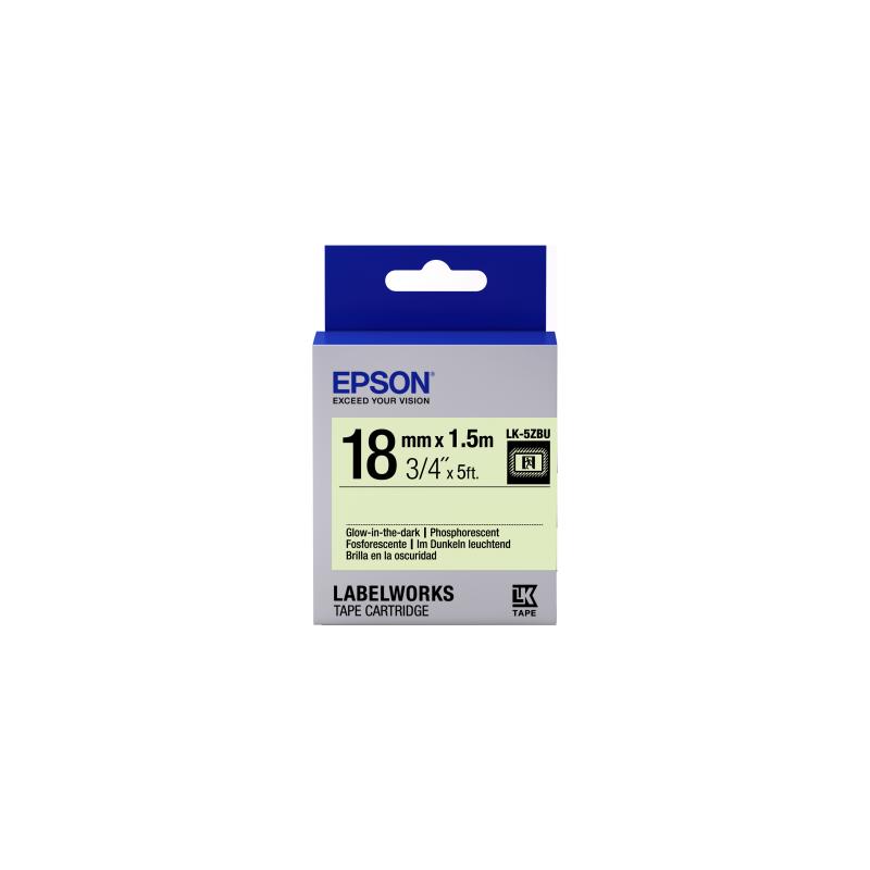Epson Label Cartridge Glow-in-the-Dark LK-5ZBU Black/Glow 18mm (1,5m)