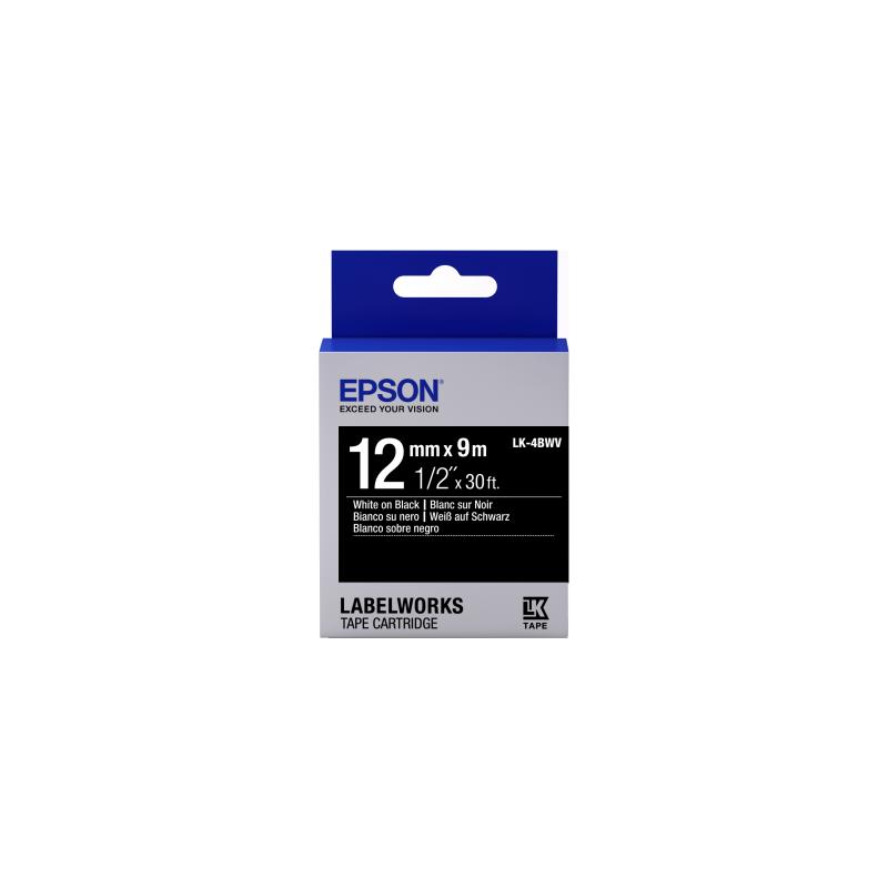 Cinta de etiquetas brillante Epson LK-4BWV