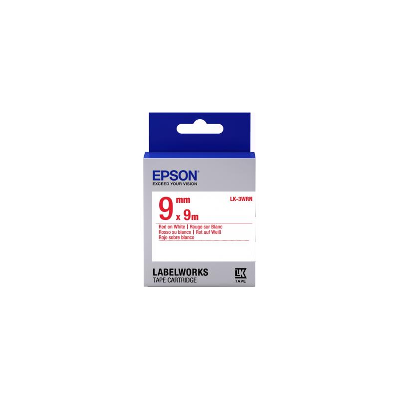 Cinta Epson estándar - LK-3WRN estándar roja/blanca 9/9