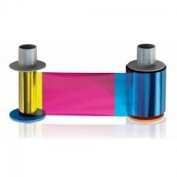 Cartucho con Ribbon - YMCKK + Rodillo de limpieza (500 impresiones) para DTC550