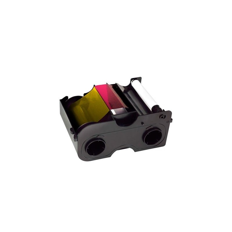 EZ - YMCKOK Cartridge w/Cleaning Roller: Full-color ribbon with two resin black panels and clear overlay panel – 200 images