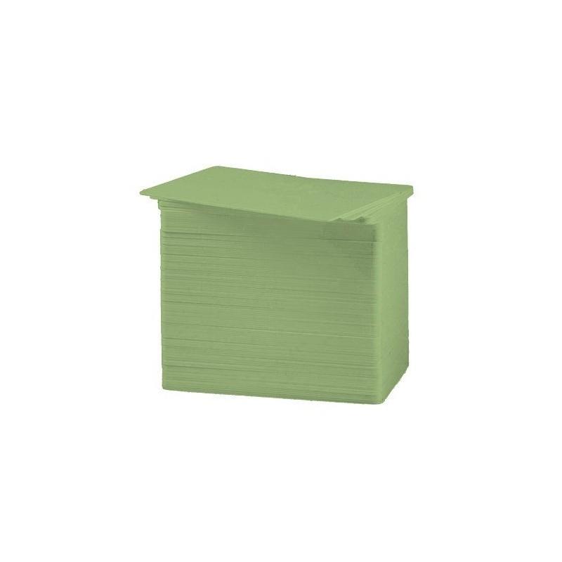 Tarjeta PVC Color verde 30 mil.