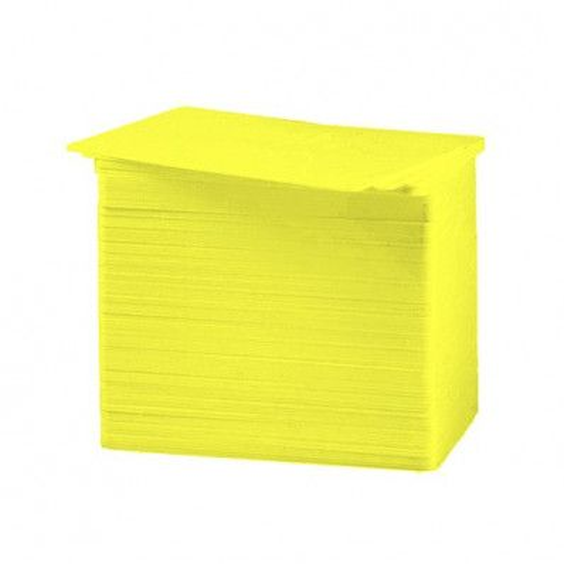 Tarjeta PVC Color amarillo 30 mil.