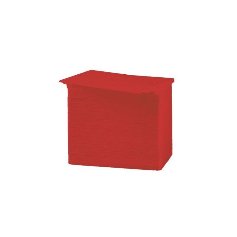 Tarjeta PVC Color rojo 30 mil.
