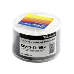 DVD-R 16x 4,7Gb RITEK TRAXDATA Inkjet White Printable