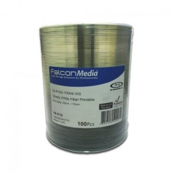 CD-R 52x 700Mb Glossy White Inkjet Imprimible FalconMedia