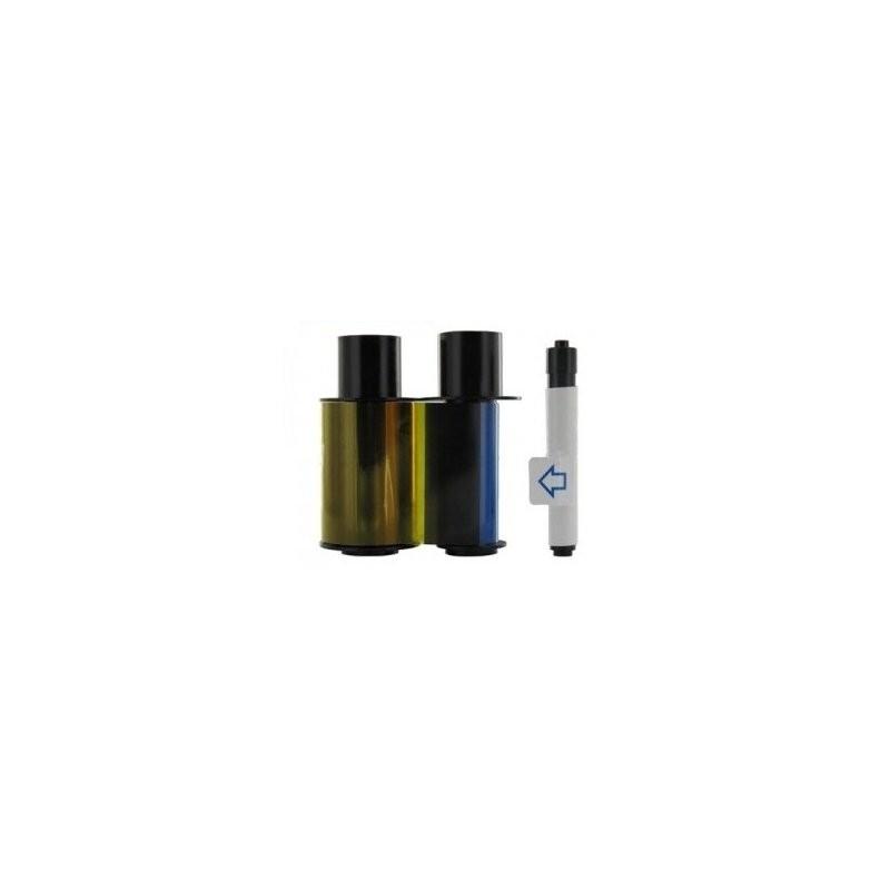 Ribbon recargable ECO YMCKO + Rodillo de limpieza (WE) (100 impresiones)
