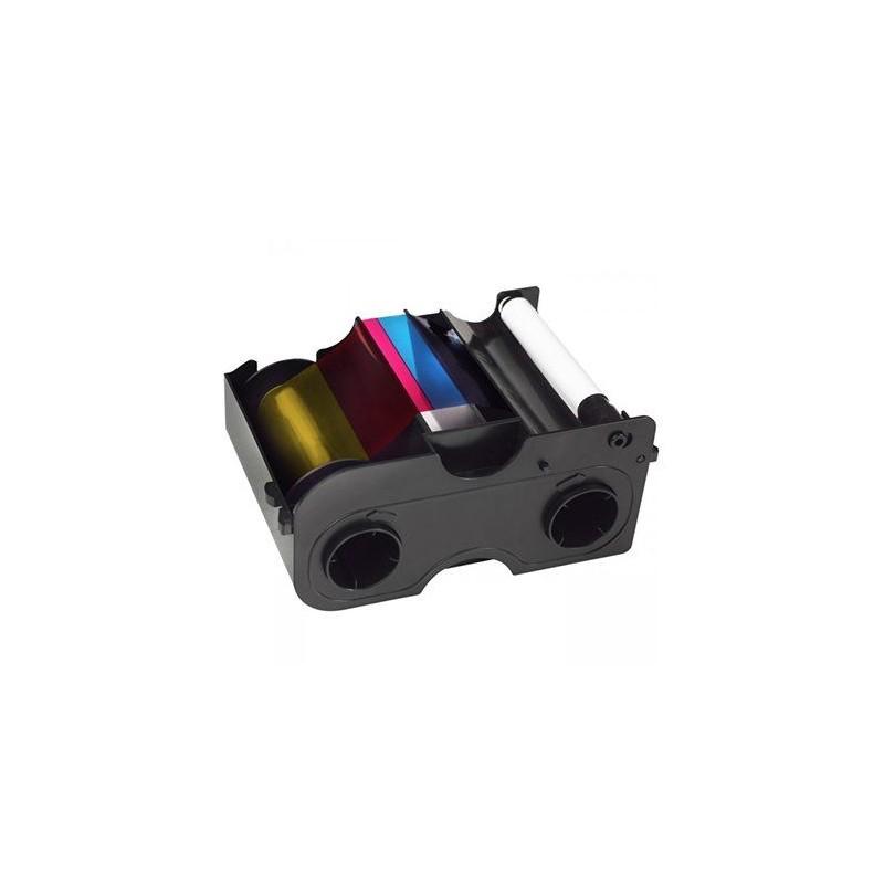 Cartucho con Ribbon Recargable - YMCKO Medio panel + Rodillo de limpieza (350 impresiones)