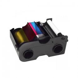 Cartucho con Ribbon Starter - YMCKO Medio panel + Rodillo de limpieza (350 impresiones)