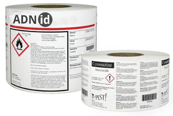 etiquetas GHS sector quimico