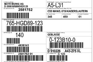 etiquetas VDA 4902, AIAG VW GTL GM 1724 Odette Gaia impresoras de etiquetas